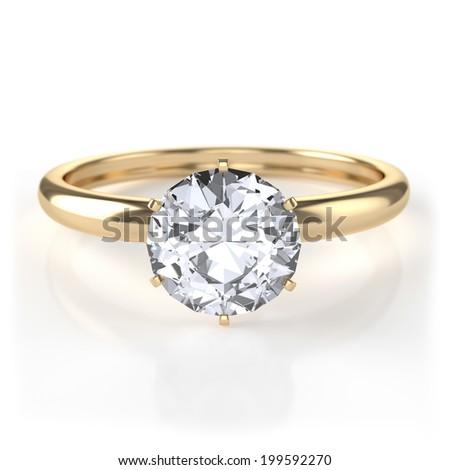 Diamond ring - stock photo