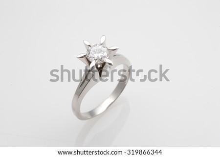 Diamond, ring - stock photo