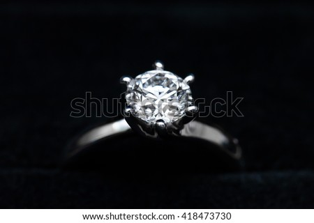 Diamond Ring - stock photo