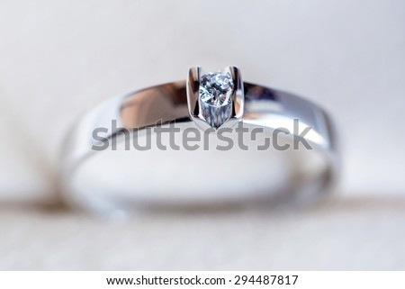 Diamond ring as a gift