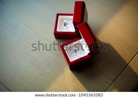 Diamond Ring Wedding Ring Wedding Ring Stock Photo Royalty Free