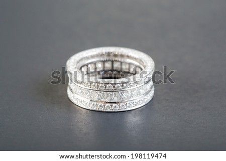 diamond rings on the black background