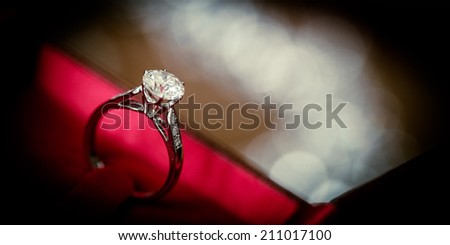 Diamond Rings rad box  - stock photo