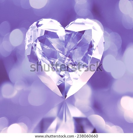 diamond shaped purple heart - stock photo
