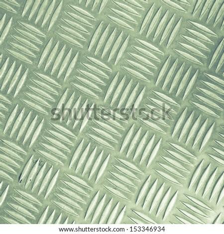 Diamond steel metal sheet useful as background - stock photo