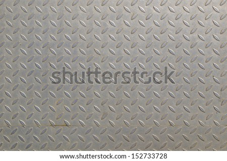 Diamond steel plate useful as a background - stock photo