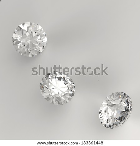 Diamonds 3d in composition as concept  - stock photo