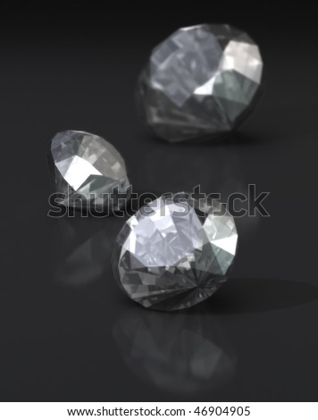 Diamonds on Dark Background - stock photo
