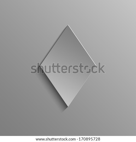 Diamonds Rustrakehner Color on a gray background - stock photo