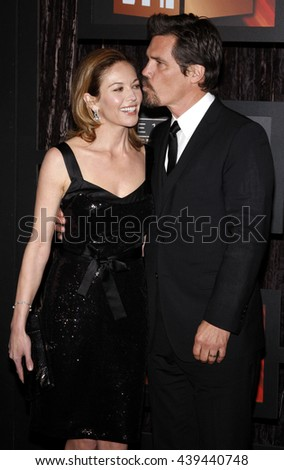 Diane Lane and Josh Brolin at the VH1's 14th Annual Critics' Choice Awards held at the Santa Monica Civic Auditorium in Santa Monica, USA on January 8, 2009.