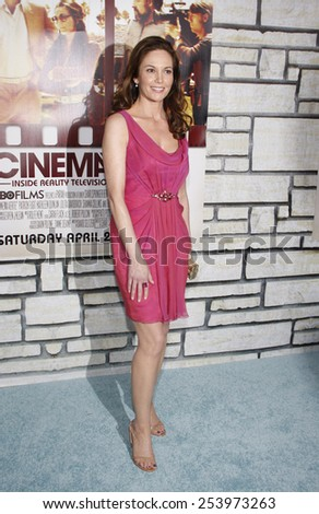 "Diane Lane at the Los Angeles Premiere of ""Cinema Verite"" held at the Paramount Pictures Studios Hollywood in Los Angeles, California, United States on April 11, 2011."
