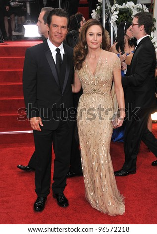 Diane Lane & Josh Brolin at the 69th Golden Globe Awards at the Beverly Hilton Hotel. January 15, 2012  Beverly Hills, CA Picture: Paul Smith / Featureflash