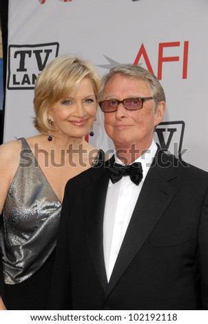 Diane Sawyer and Mike Nichols at the The AFI Life Achievement Award Honoring Mike Nichols presented by TV Land, Sony Pictures Studios, Culver City, CA. 06-10-10