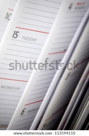 Diary Pages - stock photo