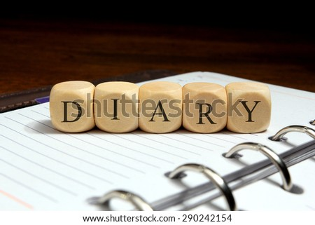 DIARY word concept - stock photo