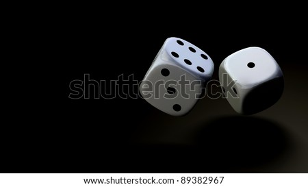 dice at black background