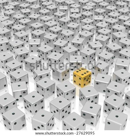 dice background - stock photo