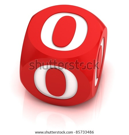 dice font letter O - stock photo