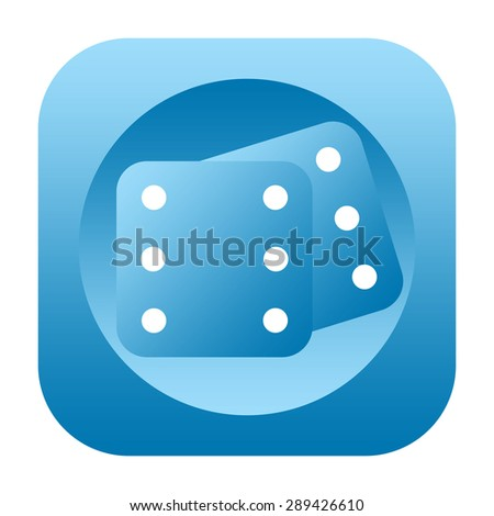 Dice icon - stock photo