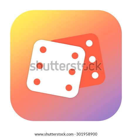 Dice icon - stock photo