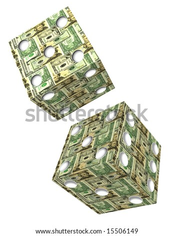 Dice made of US Bank Notes