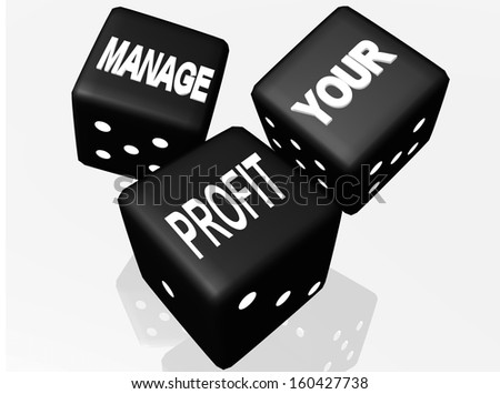 dice manage your profit - stock photo
