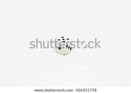 Dice on white background - stock photo