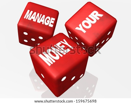 dice red manage your money - stock photo