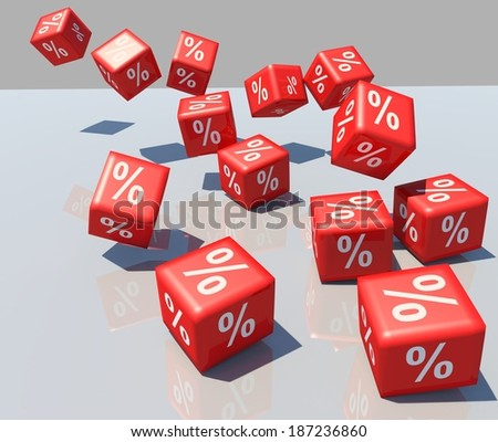 dice red - sales percent %