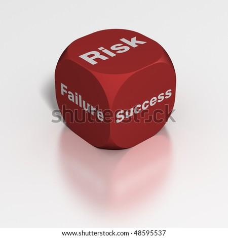 Dice: Risk, Failure or Success? - stock photo