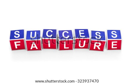 Dice showing success & failure - stock photo