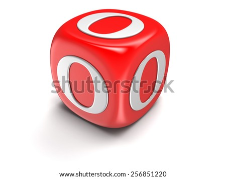 Dice with letter O (clipping path included) - stock photo