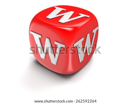 Dice with letter W - stock photo