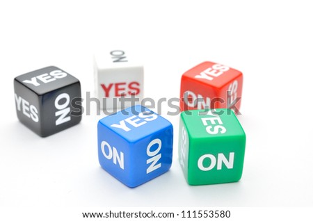 Dice with Yes, No