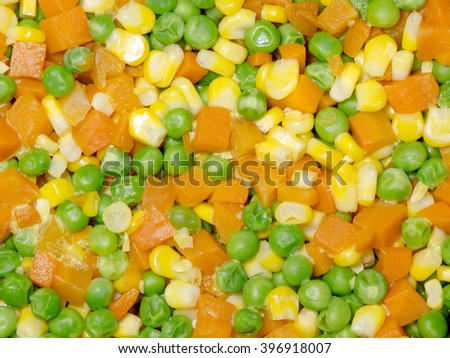 Diced Corn, Carrot and Pea background