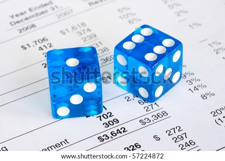 Dices concepts the risk and reward in business