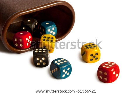 dices isolated on a white background