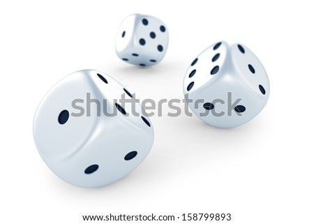 Dices isolated on white background