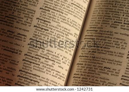 dictionary - stock photo