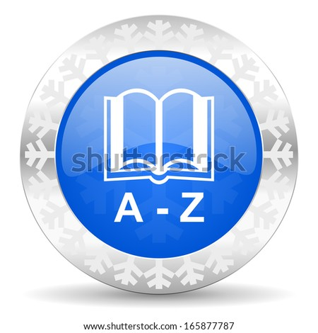 dictionary christmas icon