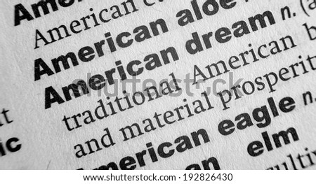 Dictionary definition of the term American Dream - stock photo