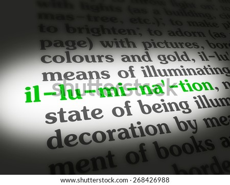 "Dictionary definition of the word ""Illumination""."