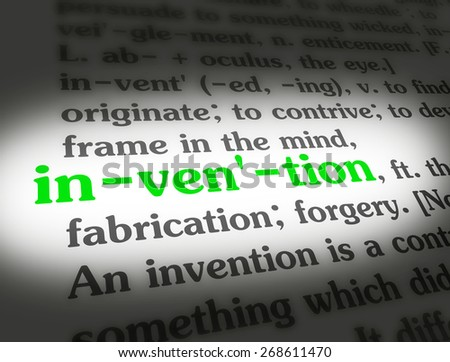 Dictionary definition of the word INVENTION.