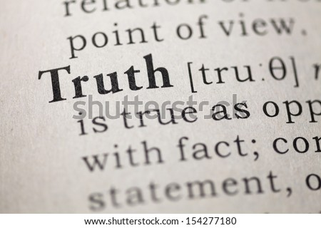 Dictionary definition of the word Truth.  - stock photo