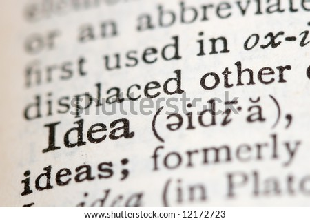 Dictionary definitions of powerful business words and phrases - stock photo