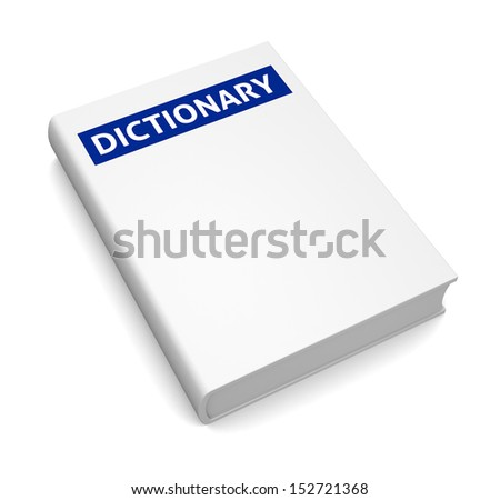 Dictionary isolated on white background