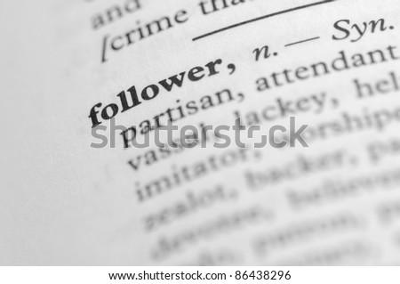 Dictionary Series - Follower