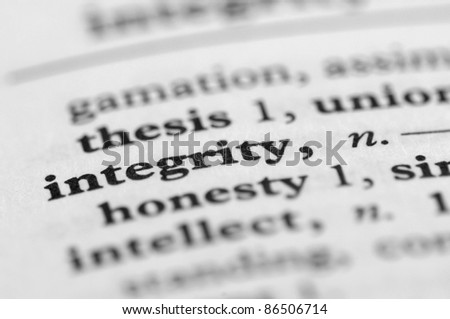 Dictionary Series - Integrity