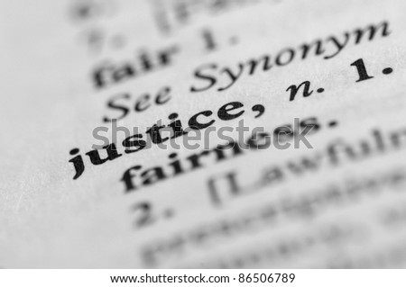 Dictionary Series - Justice - stock photo
