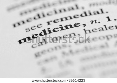 Dictionary Series - Medicine - stock photo